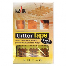 Nasara Gitter-Tape beige